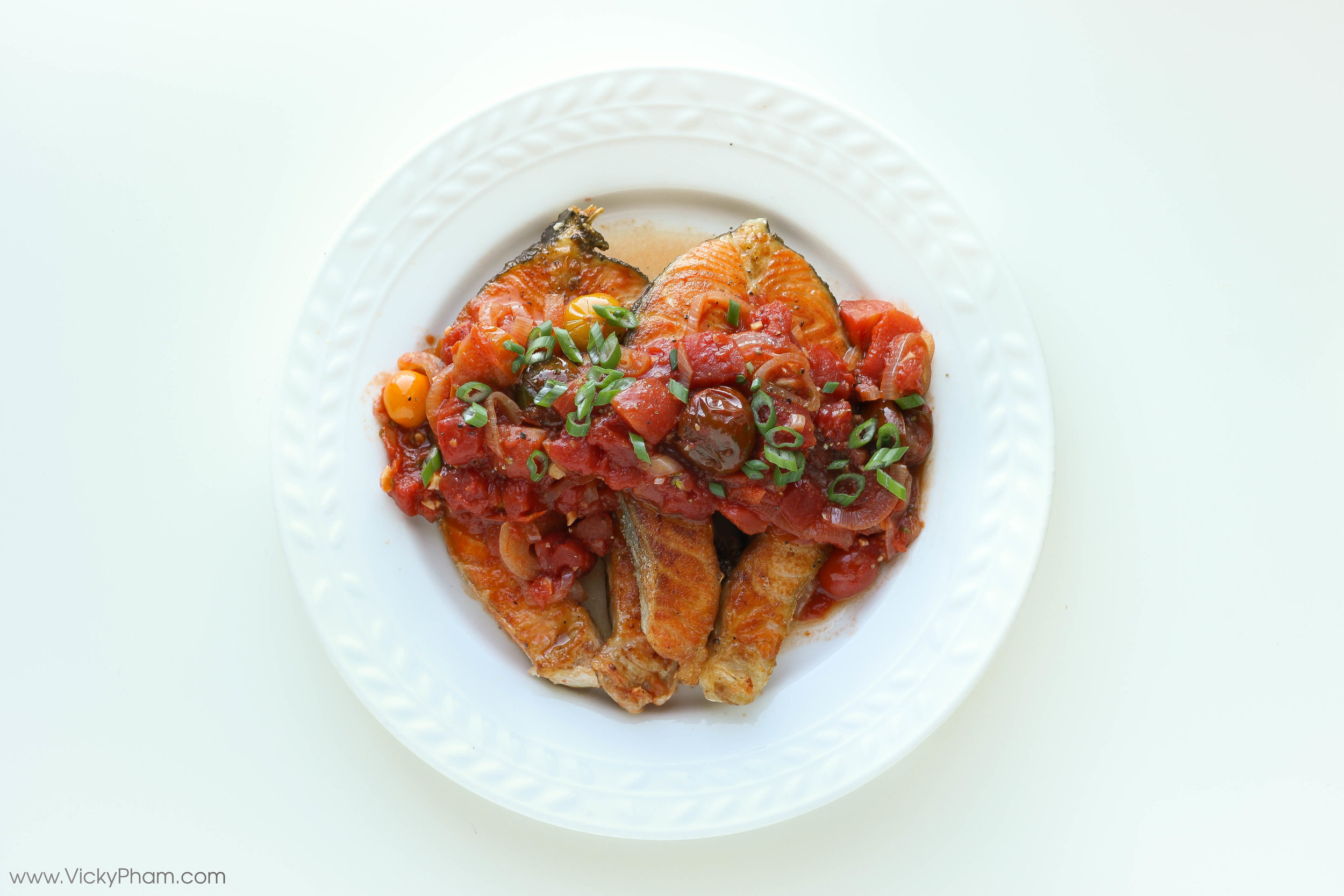 Vietnamese Fried Fish with Tomato Sauce Ca Chien Sot Ca Chua