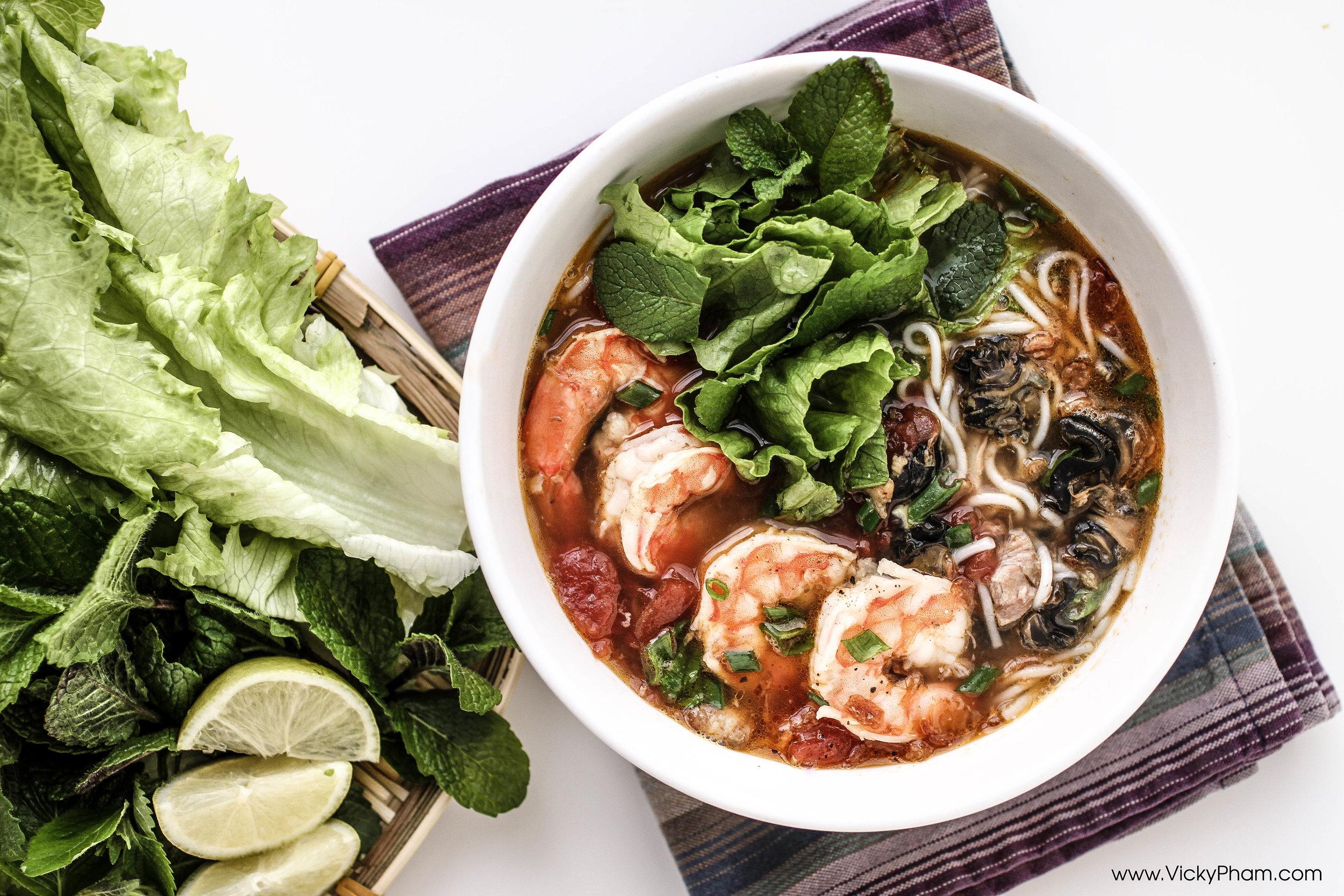 Vietnamese Snail Noodle Soup Bun Oc Recipe