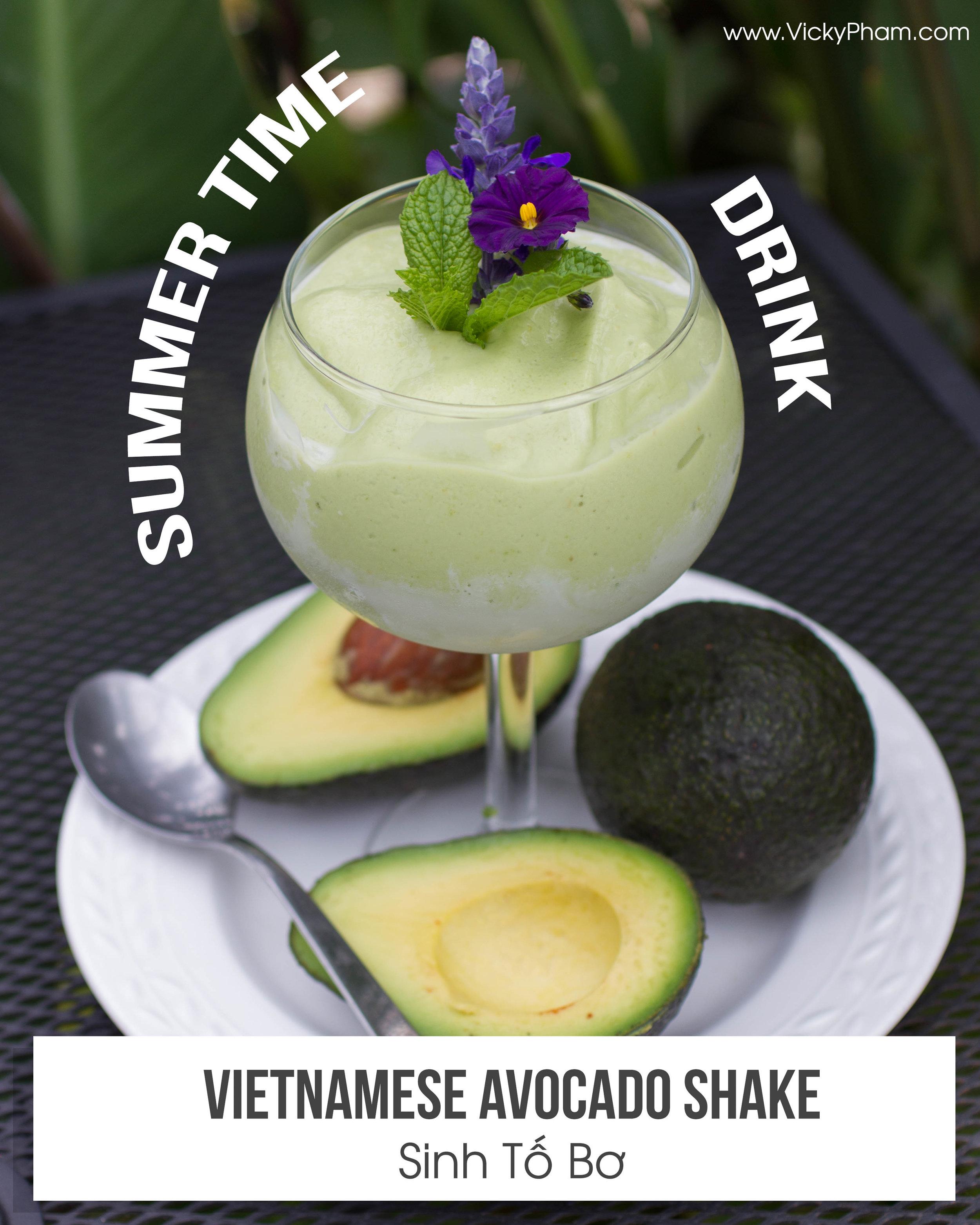 sinh to bo recipe Vietnamese summertime drink
