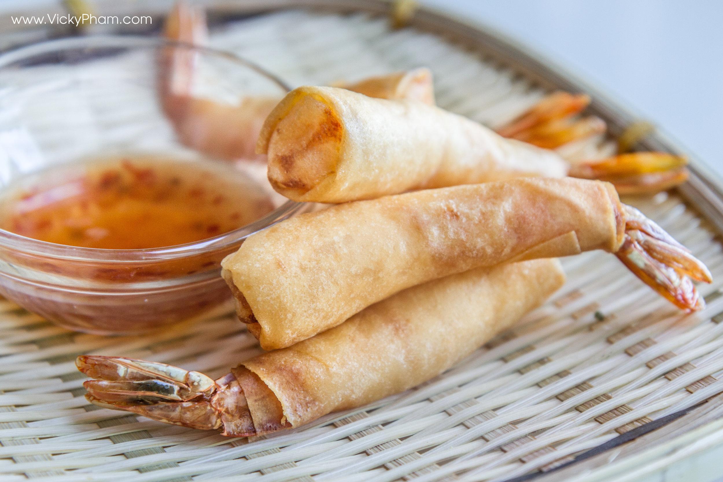 Vietnamese Shrimp Egg Roll,  Cha Gio Cuon Tom