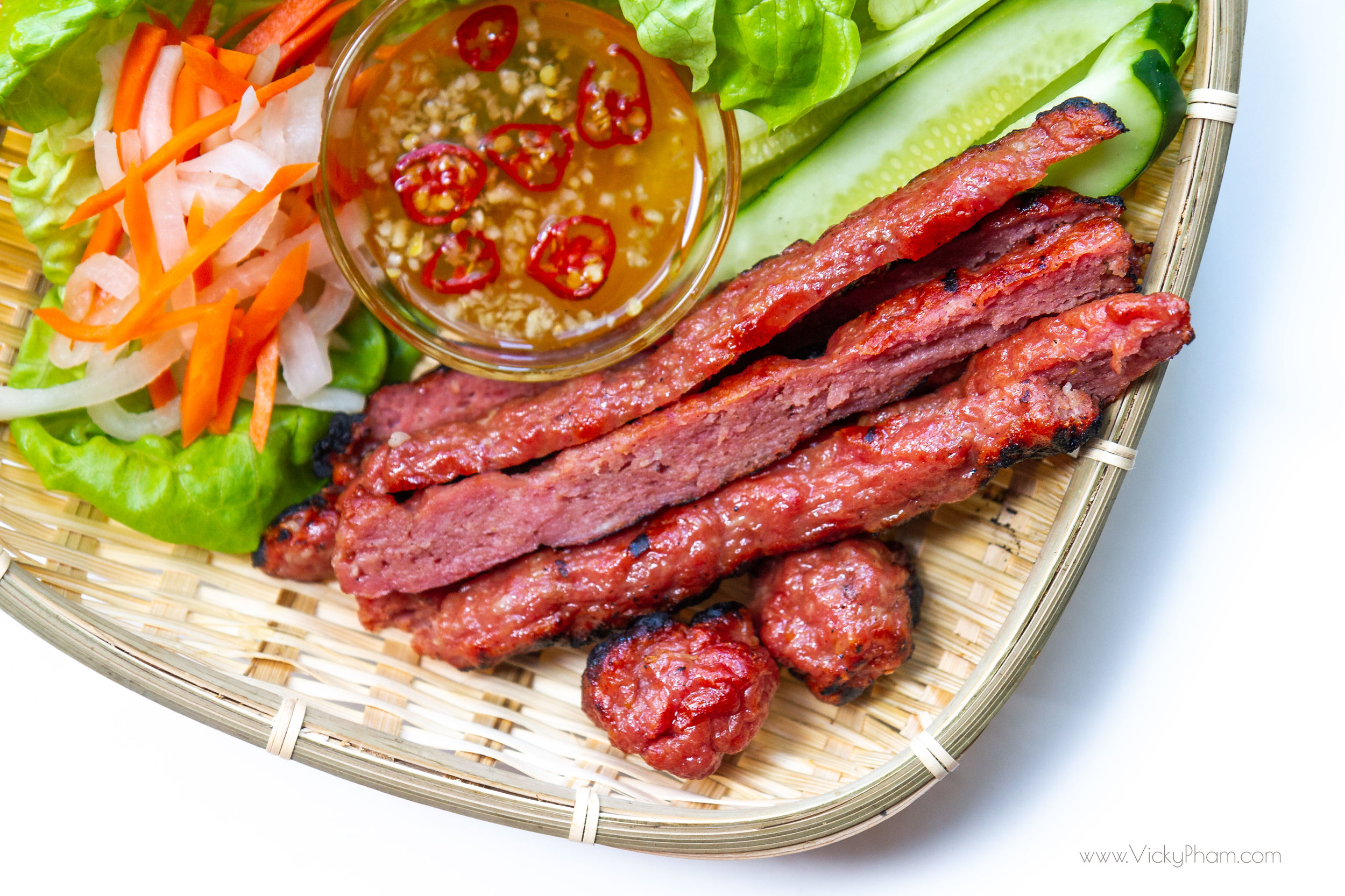 Vietnamese Grilled Pork Sausage (Nem Nuong)