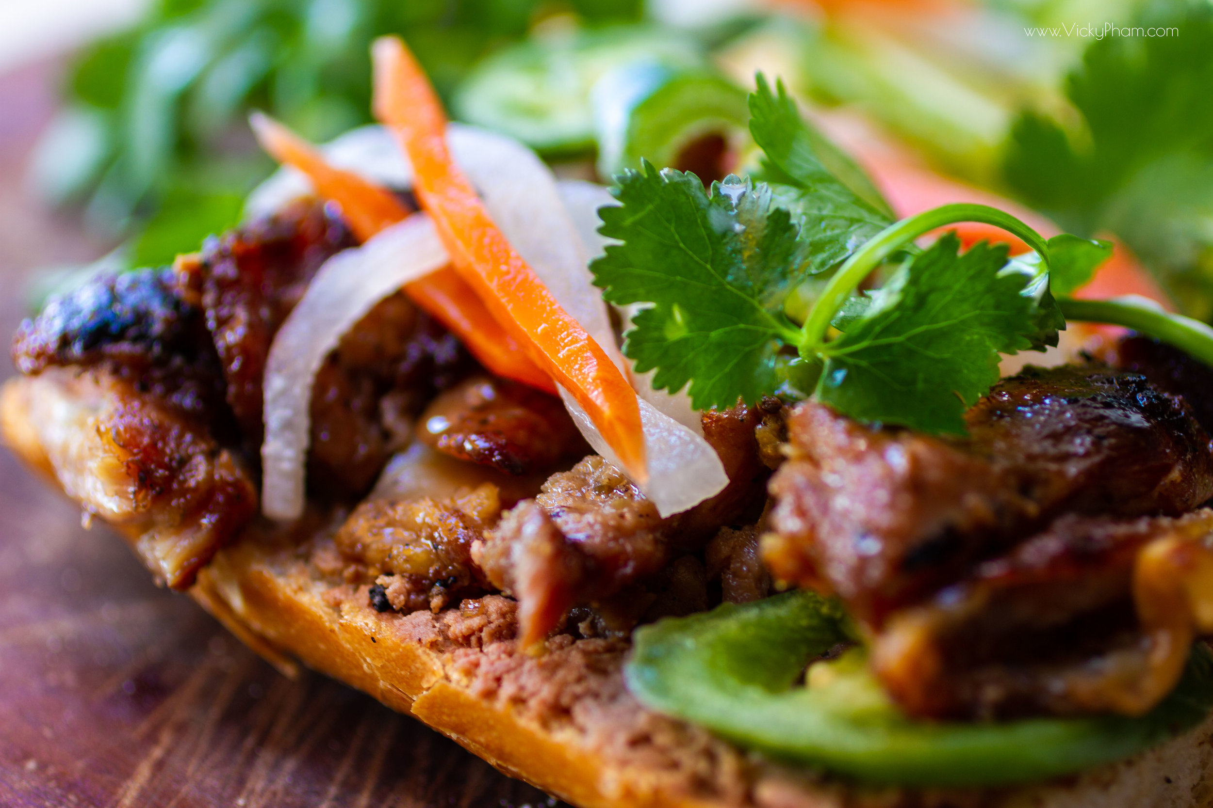 Banh Mi Ga Nuong (Vietnamese Roasted Chicken Sandwich)