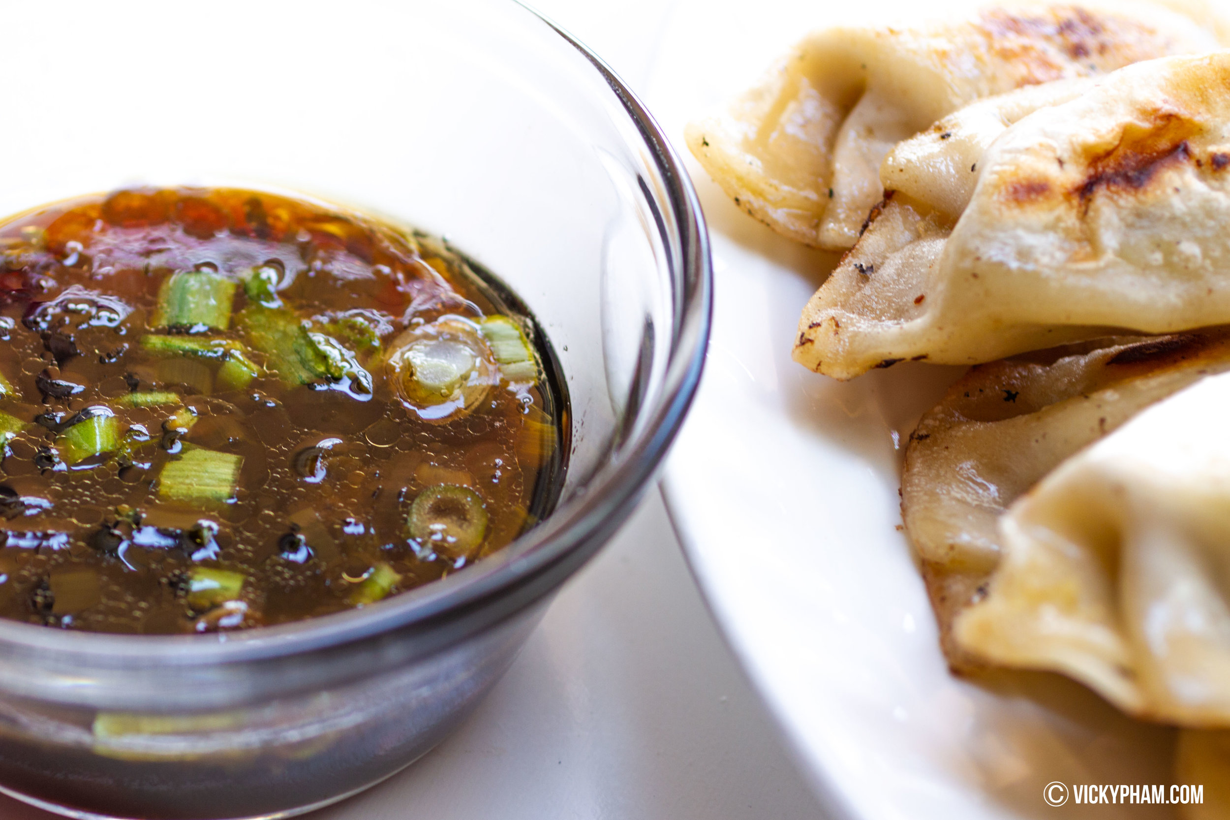 Soy dipping sauce for pot stickers