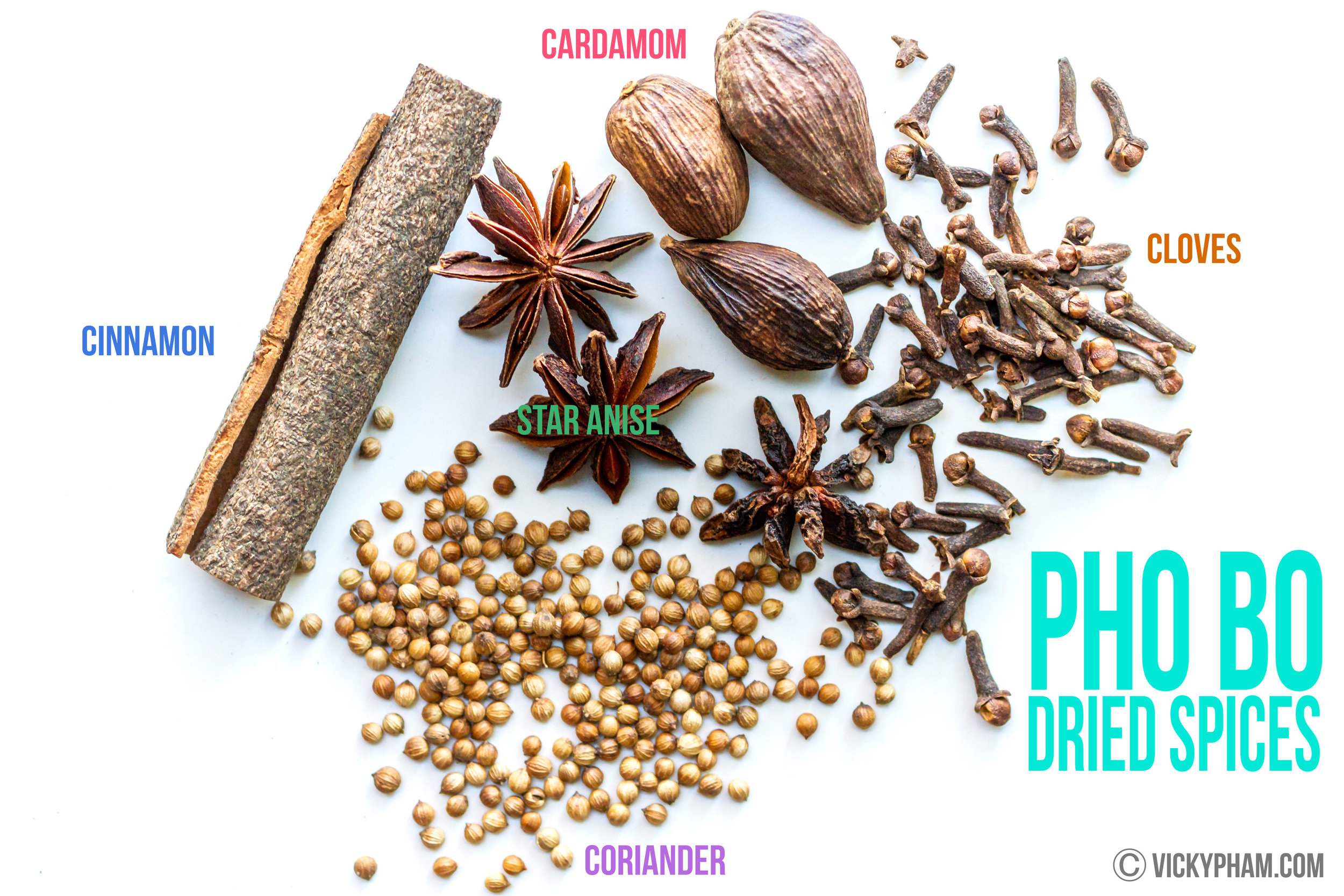 Dried Spices for Vietnamese Beef Noodle Soup (Pho Bo)