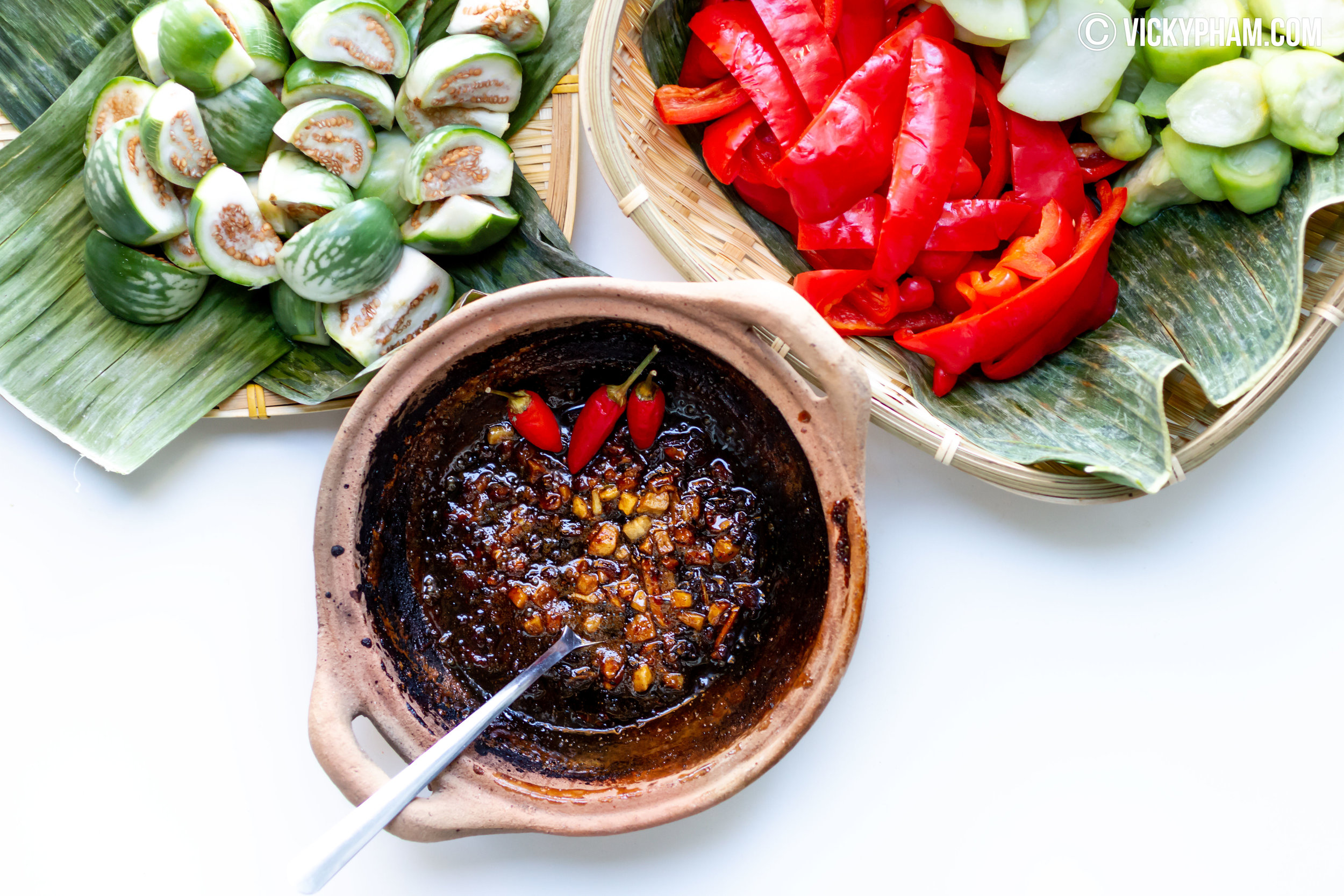 Vietnamese Vegetable Dipping Sauce with Caramelized Fish Sauce (Mam Kho Quet)