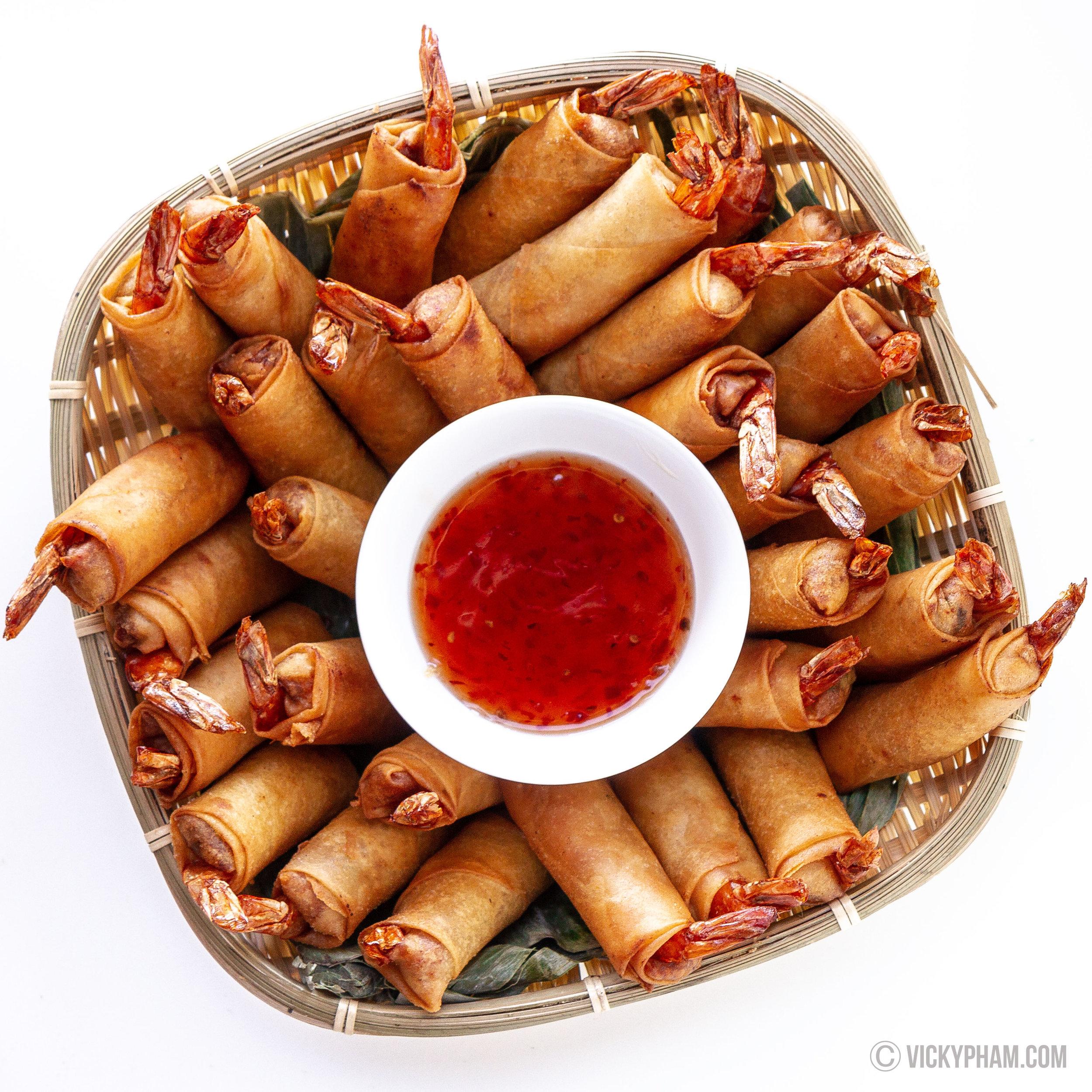 Vietnamese Shrimp & Pork Egg Rolls (Cha Gio Tom Thit)