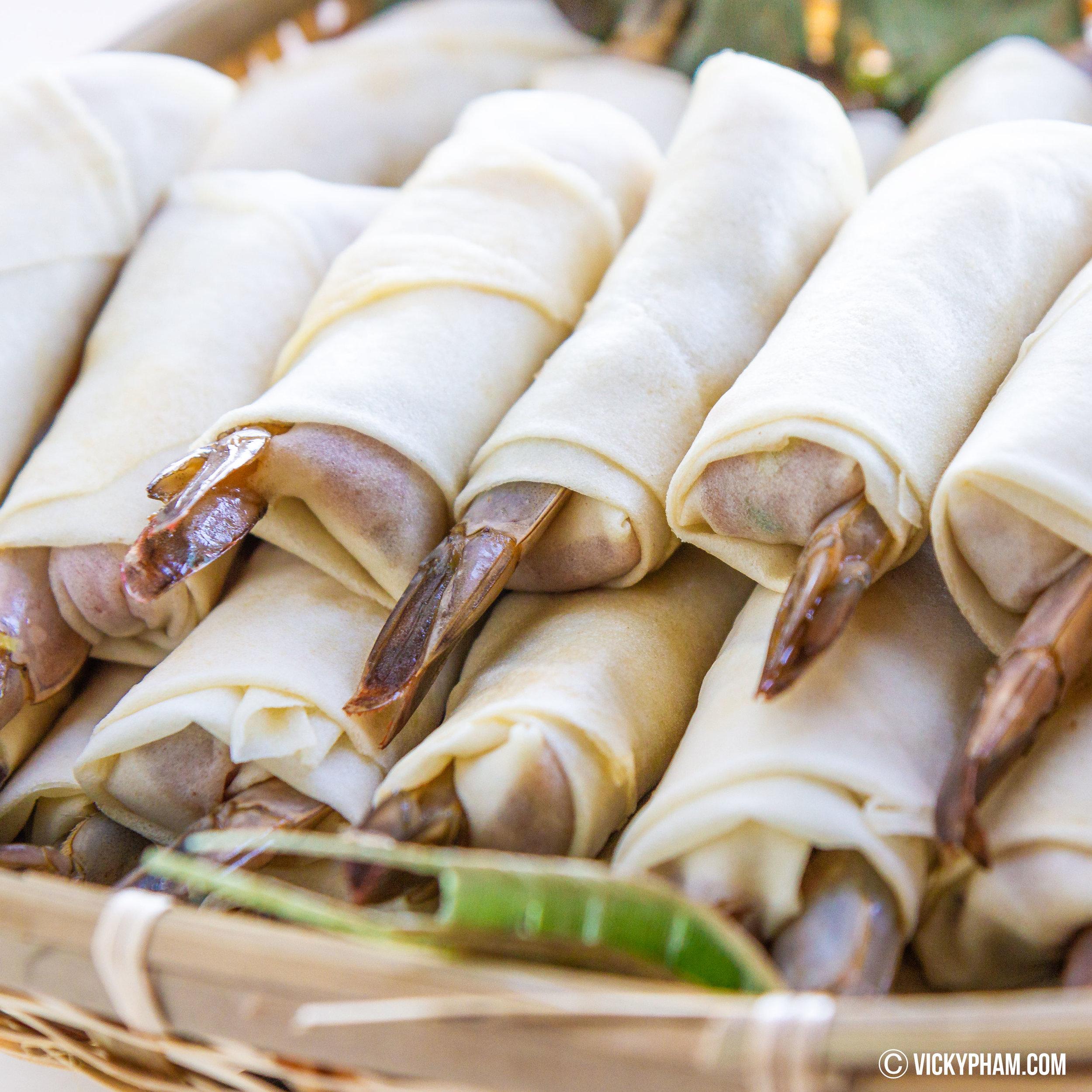 Vietnamese Shrimp & Pork Egg Rolls (Cha Gio Tom Thit) Ready for the Fryer