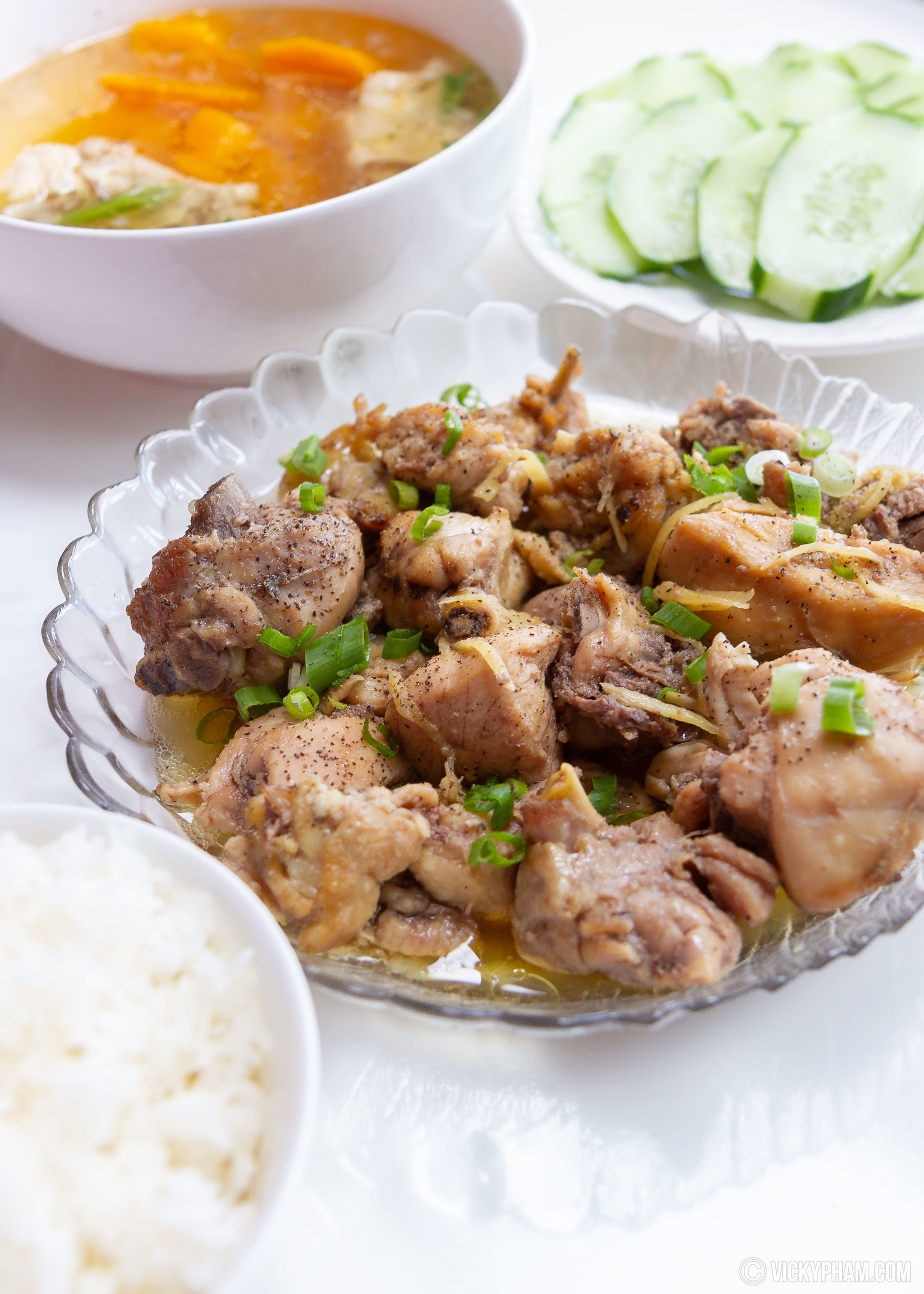 Vietnamese Caramelized Chicken with Ginger (Ga Kho Gung)