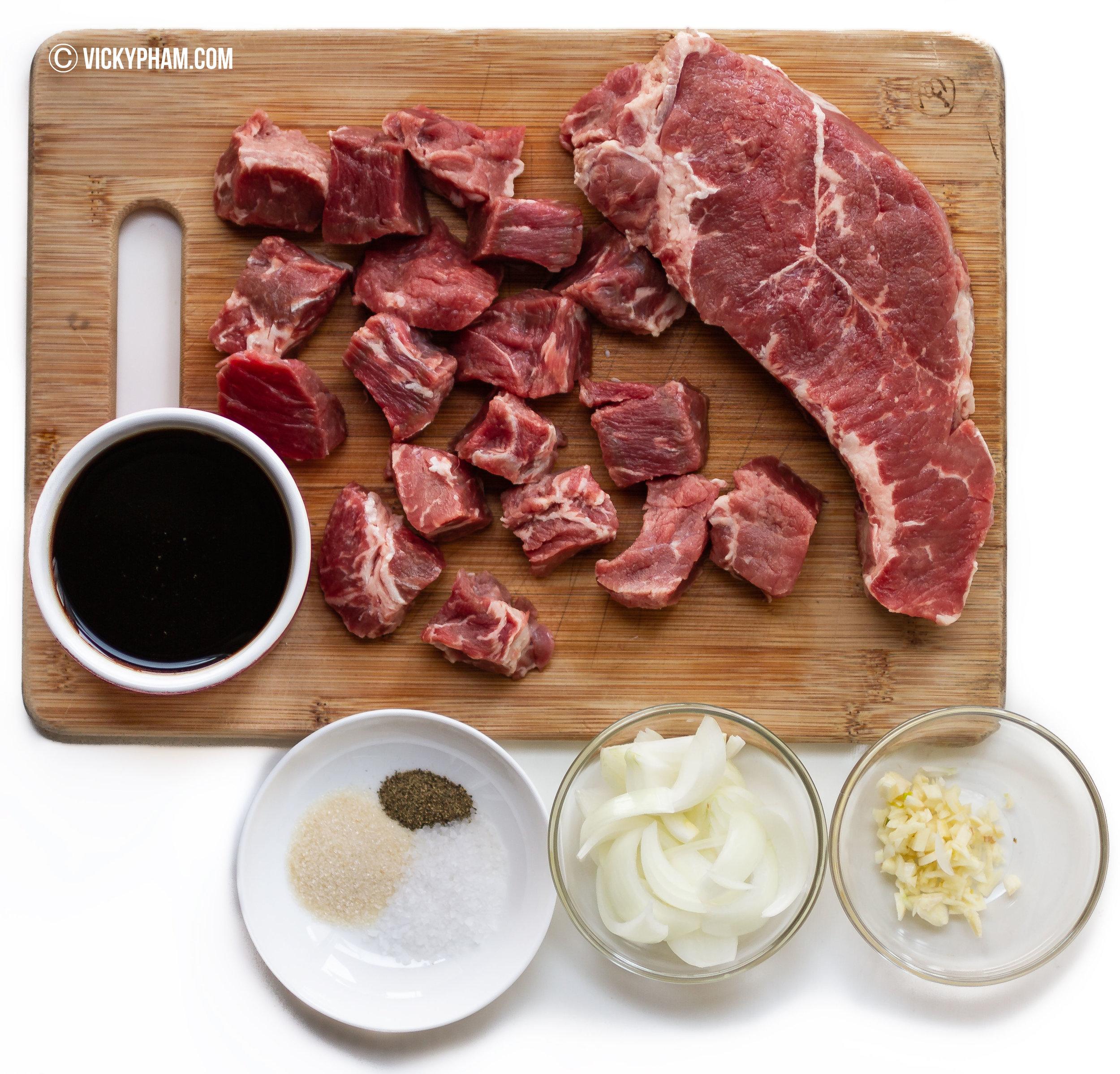 Vietnamese Shaking Beef (Bo Luc Lac) Ingredients