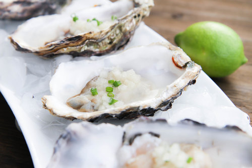 Raw Oysters with Asian Mignonette Sauce