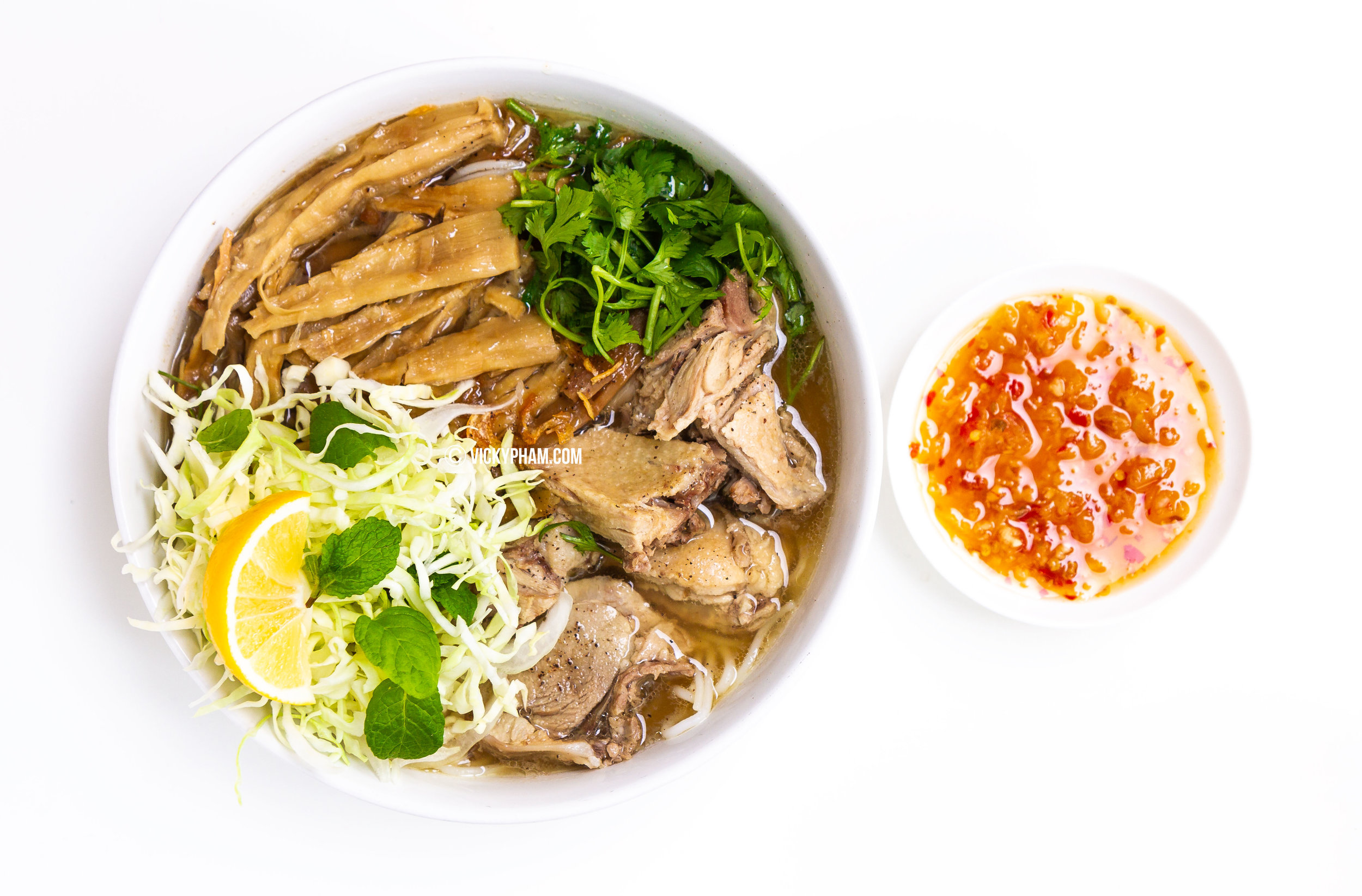 Vietnamese Duck Noodle Soup with Bamboo Shoots
