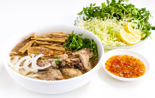 Vietnamese Duck Noodle Soup with Bamboo Shoots (Bun Mang Vit)