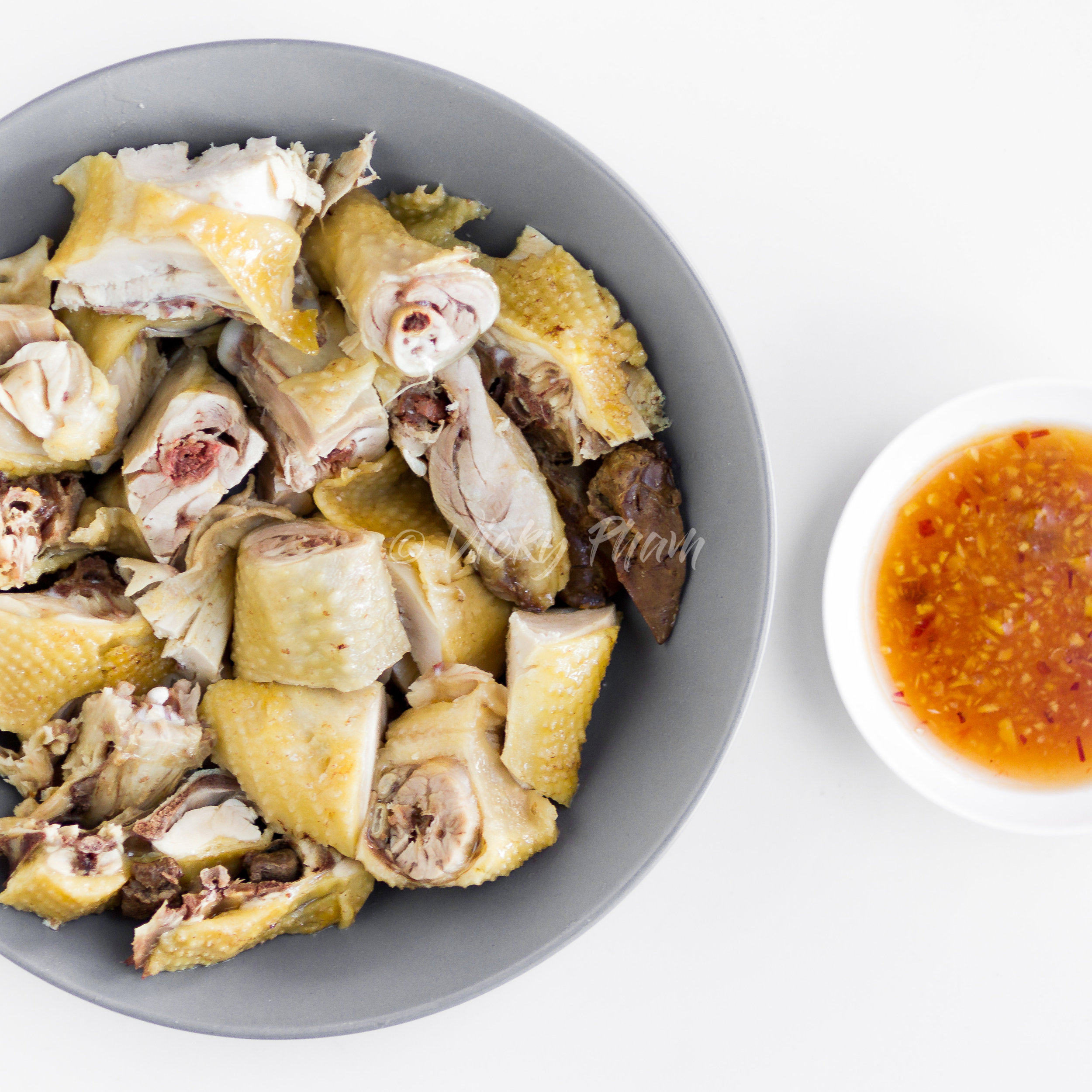 Poached Chicken with Ginger Fish Sauce