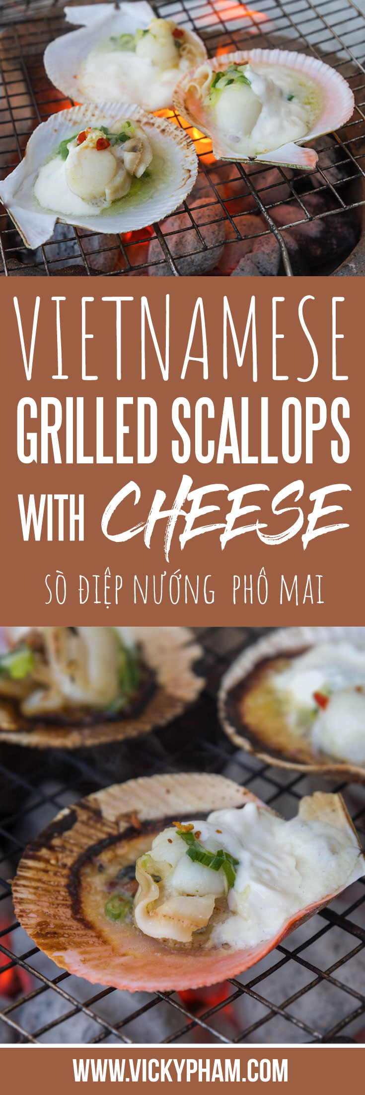 Vietnamese Grilled Scallops with Cheese (So Diep Nuong Pho Mai)