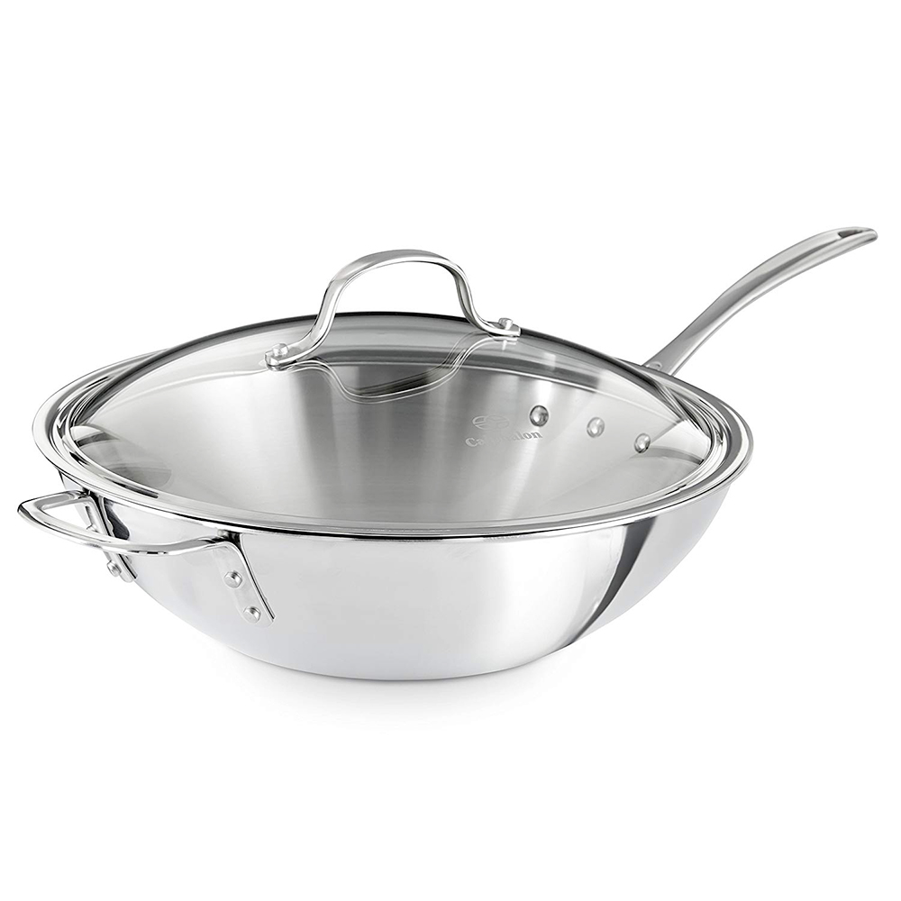 Calphalon 12-inch Wok with Cover