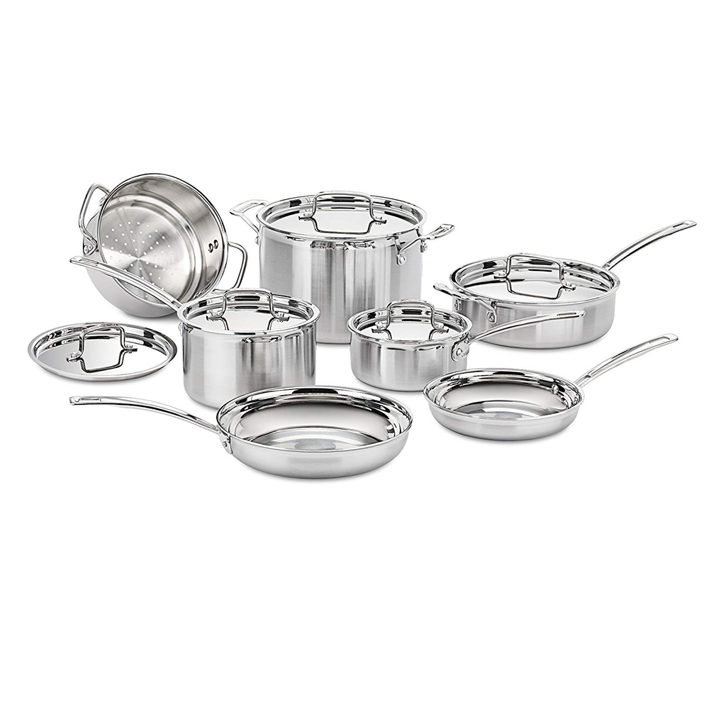 Cuisinart Stainless Steel 12-Piece Cookware Set