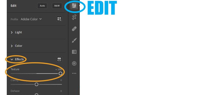 Adobe Lightroom Editing: Effects