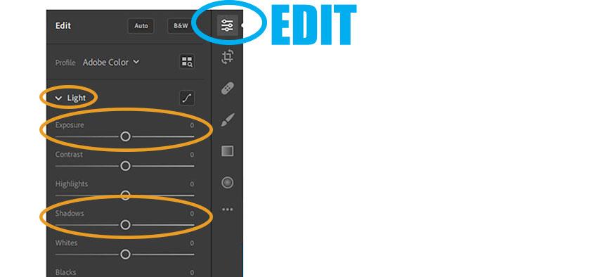 Adobe Lightroom Editing: Light