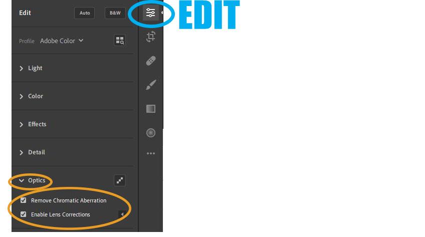 Adobe Lightroom Editing: Optics