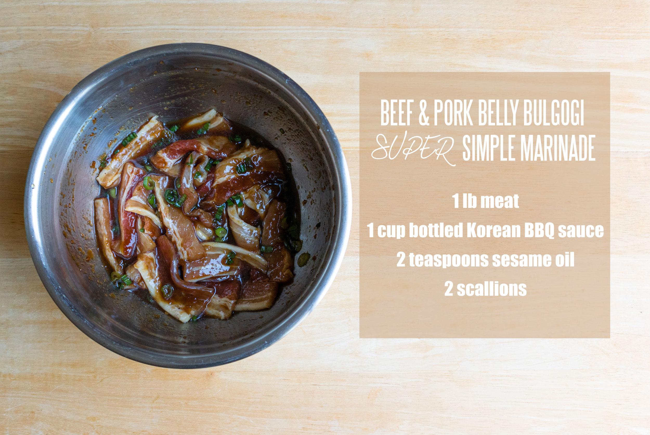 Korean BBQ: Easy Beef & Pork Belly Bulgogi Marinade