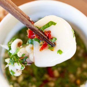 Thai-Style Chili, Lime, Garlic and Cilantro Dipping Sauce for Seafood (Nuoc Cham Hai San Kieu Thai)