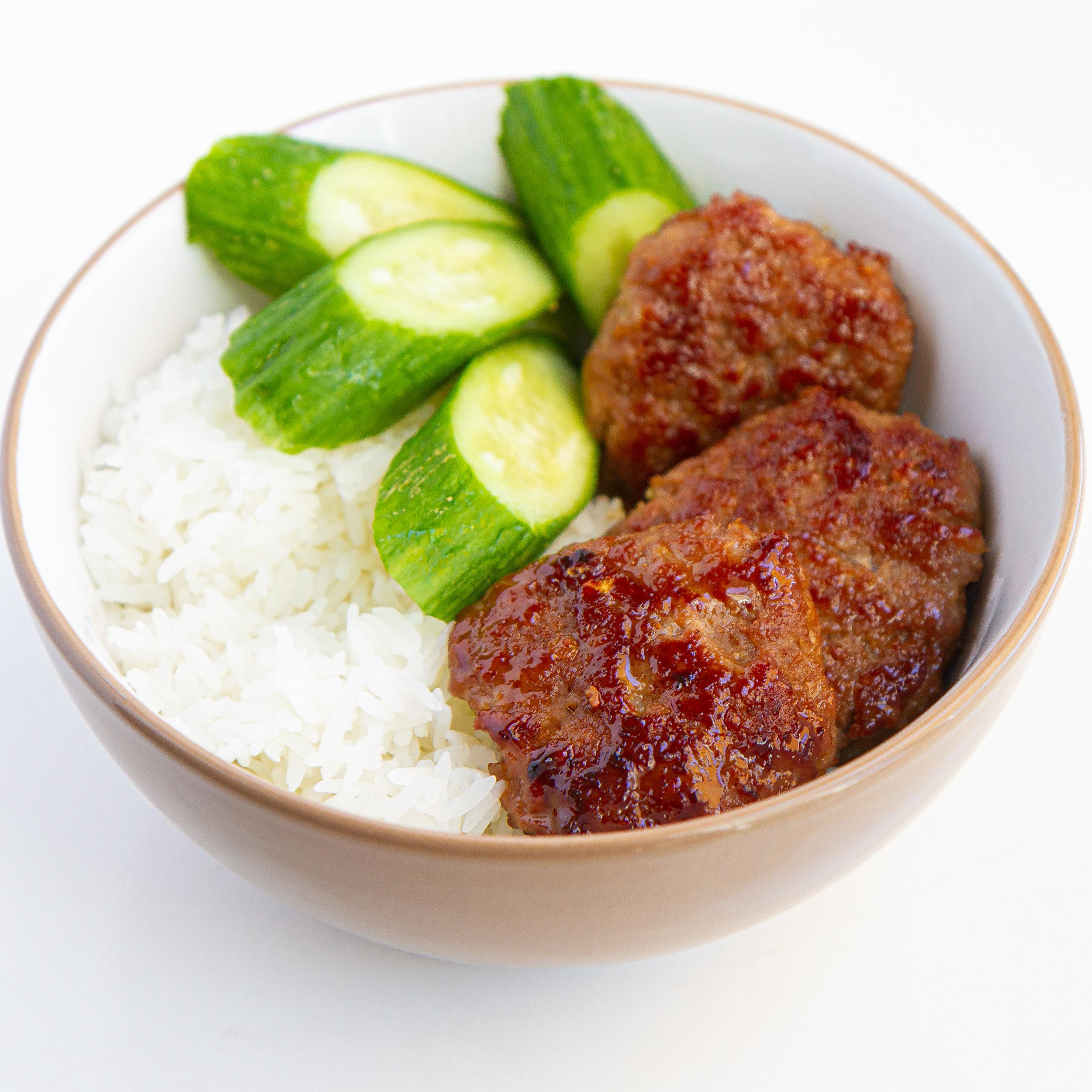 Kid-Friendly Vietnamese Pan-Fried Ground Pork Patties