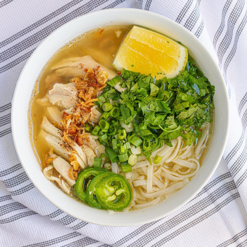 Vietnamese Chicken Noodle Soup (Pho Ga)