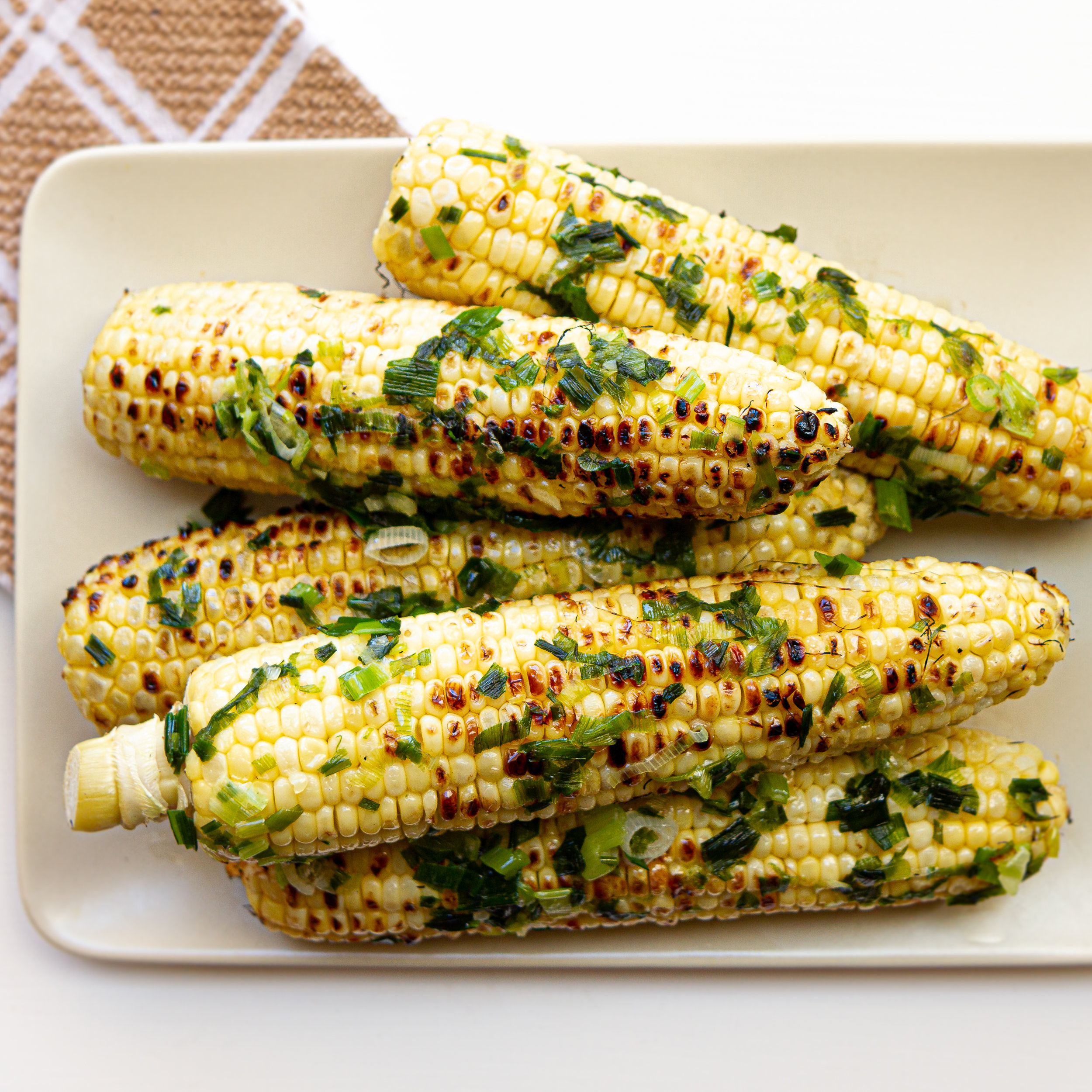 Grilled Corn with Scallion Oil (Bap Nuong Mo Hanh)