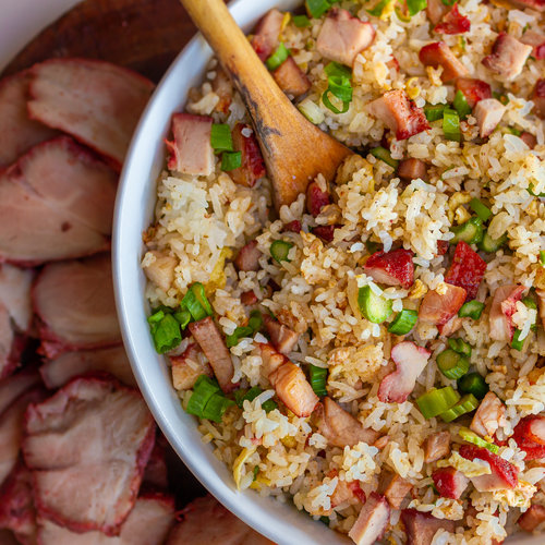 BBQ Pork Asparagus Fried Rice (Com Chien Xa Xiu Mang Tay)