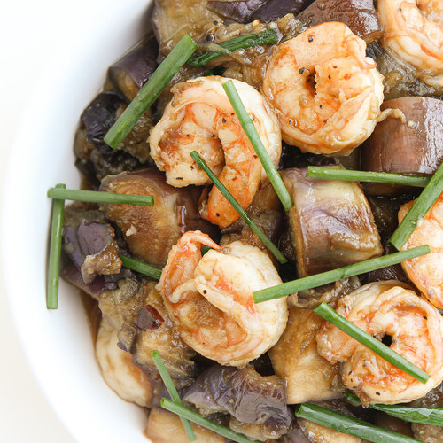 Eggplant with Shrimp and Garlic Sauce (Ca Tim Xao Tom)