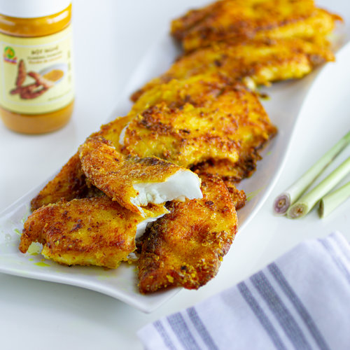 Vietnamese Turmeric & Lemongrass Fried Fish Fillets (Ca Chien Sa Nghe)
