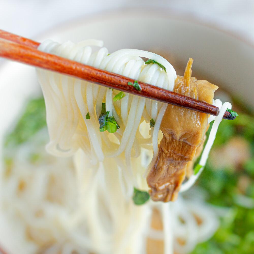 Vietnamese Chicken and Bamboo Noodle Soup (Bun Mang Ga)