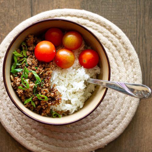 Quick & Easy Vietnamese Caramelized Ground Pork Rice Bowls