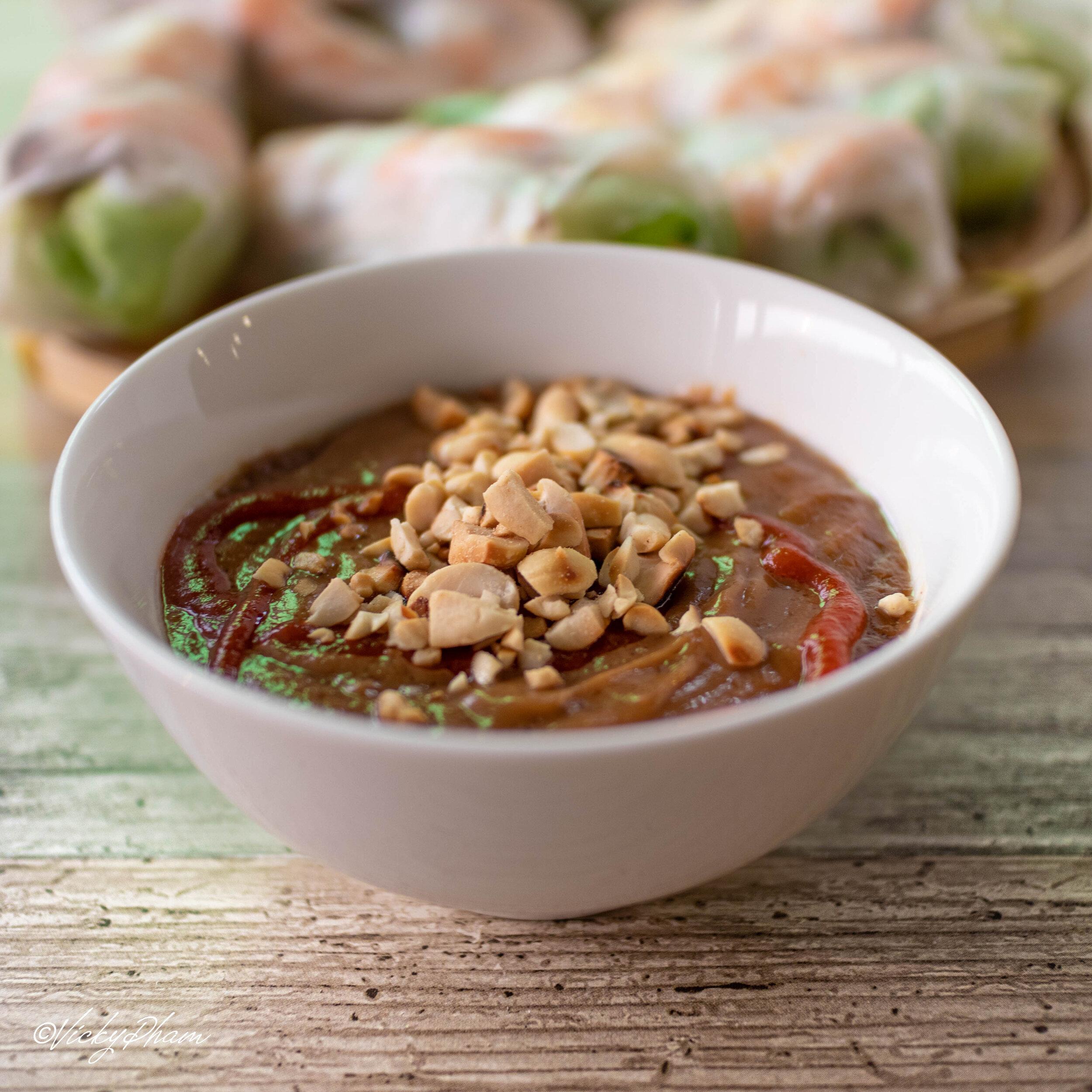 Vietnamese Peanut Dipping Sauce For Spring Rolls Tương Chấm Gỏi Cuốn Vietnamese Home Cooking Recipes