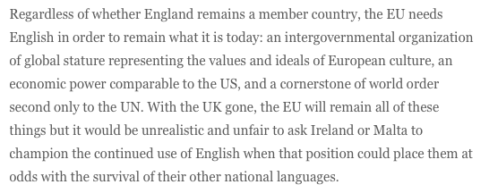 James Nolan: Brexit and standard English