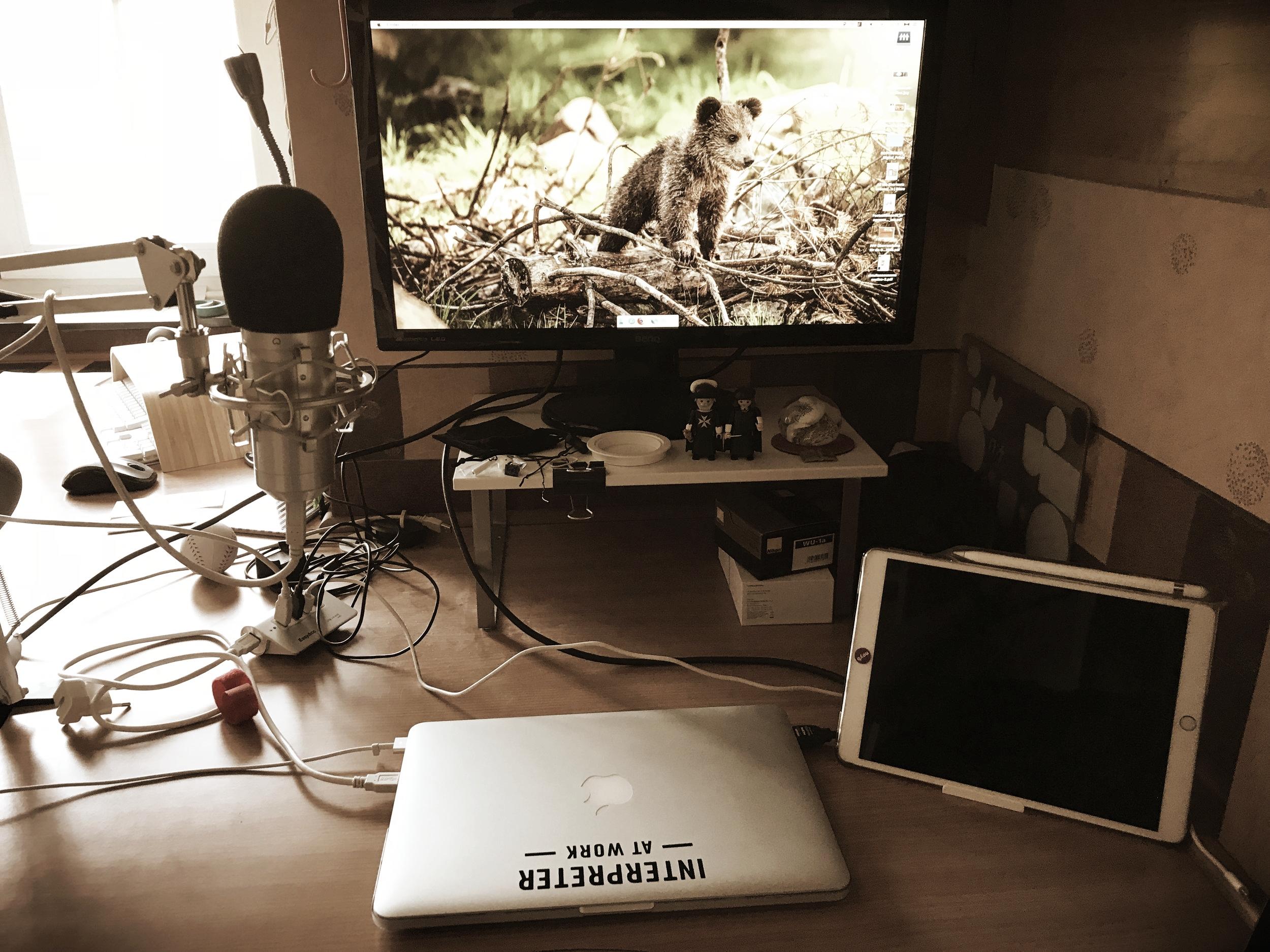 My setup for the tablet webinar