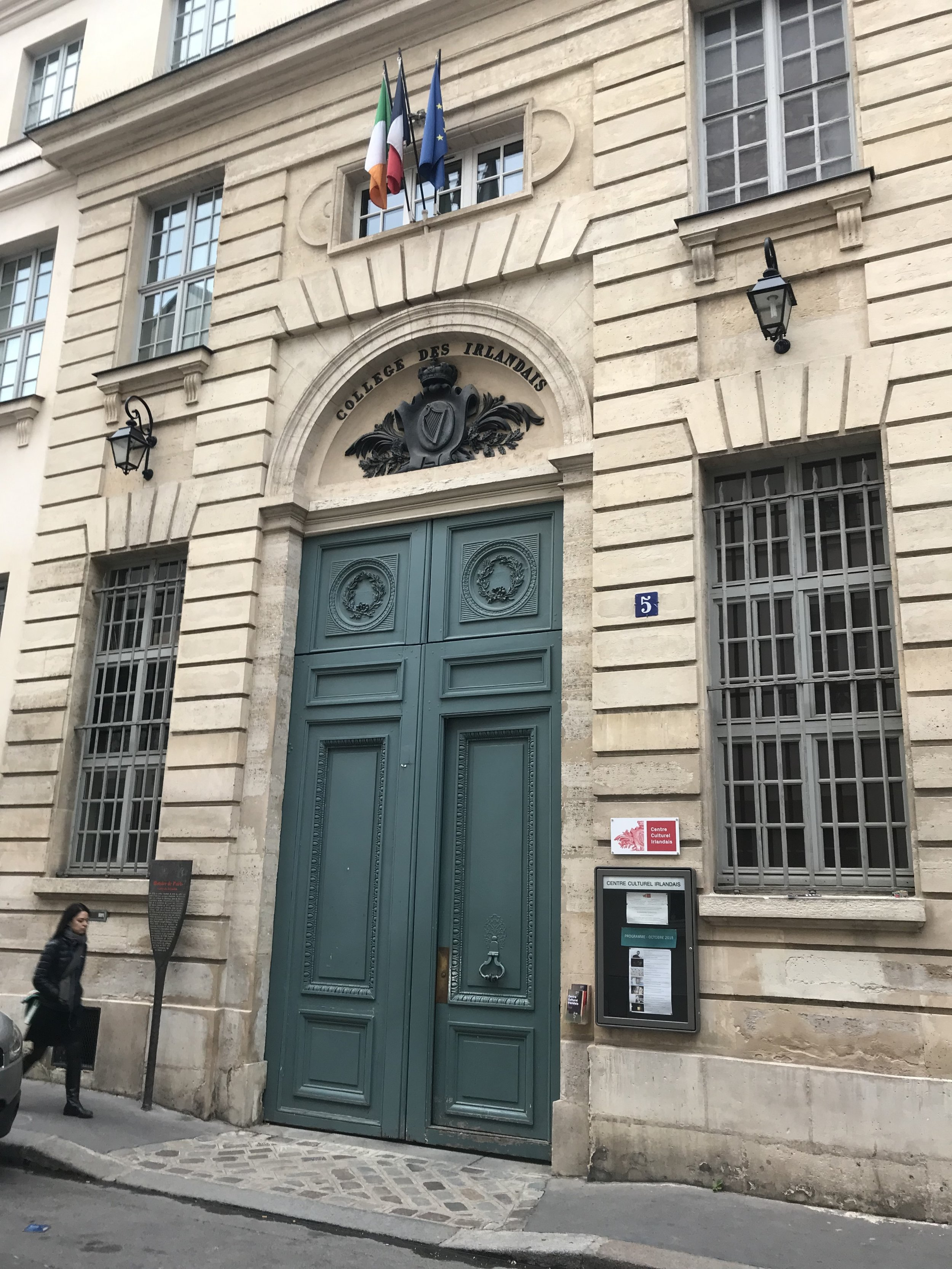 Entrance to the Collège des Irlandais in Paris