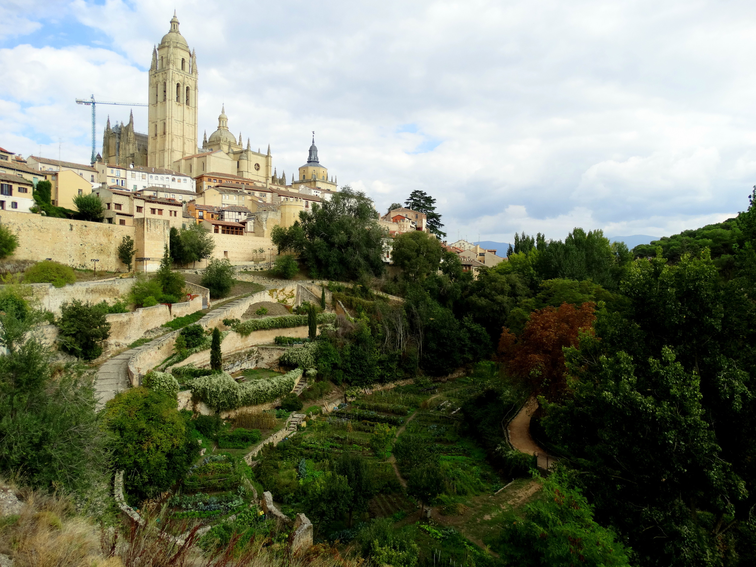Segovia and its vegetable patches