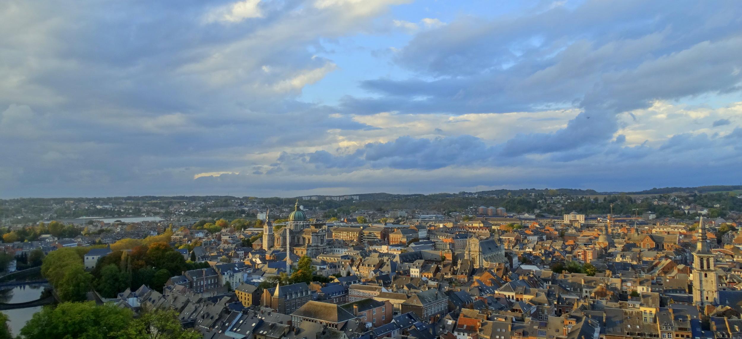Namur glowing