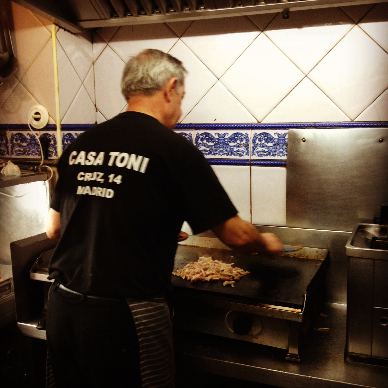 Carmelo at work in Casa Toni