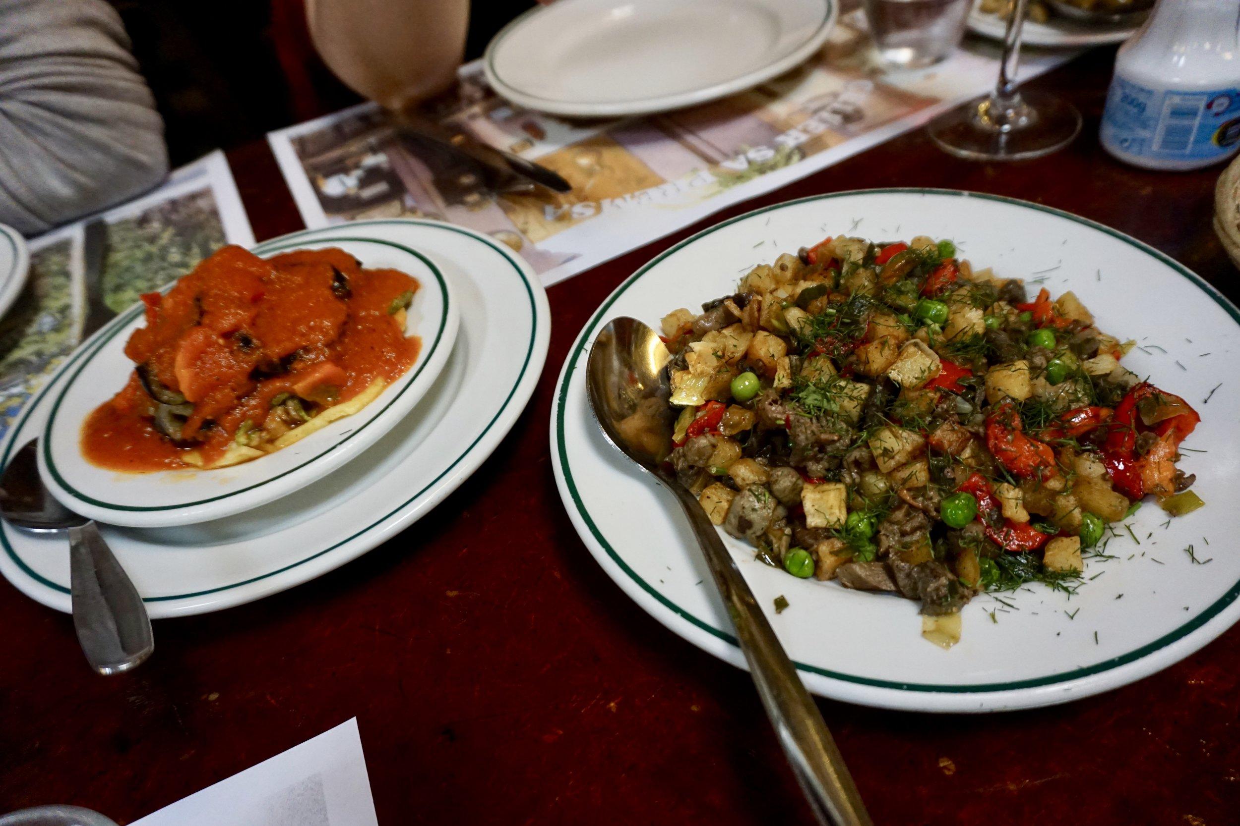 Tombet and frito mallorquín