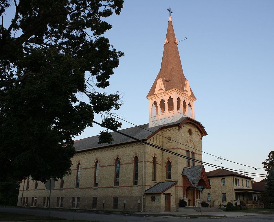 The original church building, built in 1878.