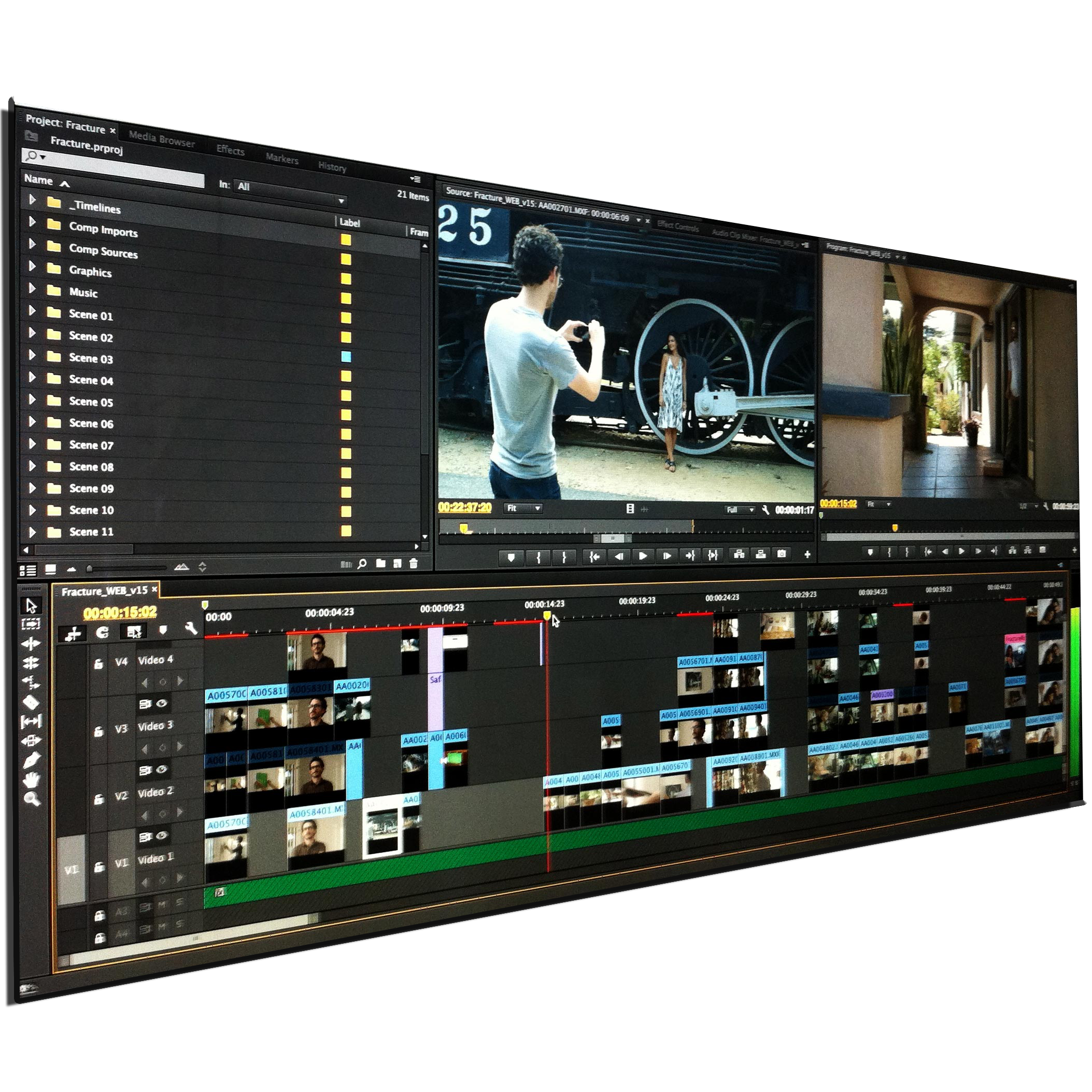 We have a complete non-linear editing facility to piece together raw footage into a cohesive video story