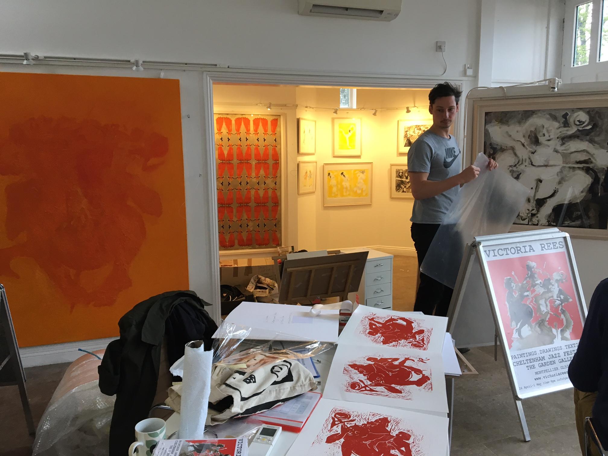 Exhibition.Visual artis in residence cheltenham jazz festival