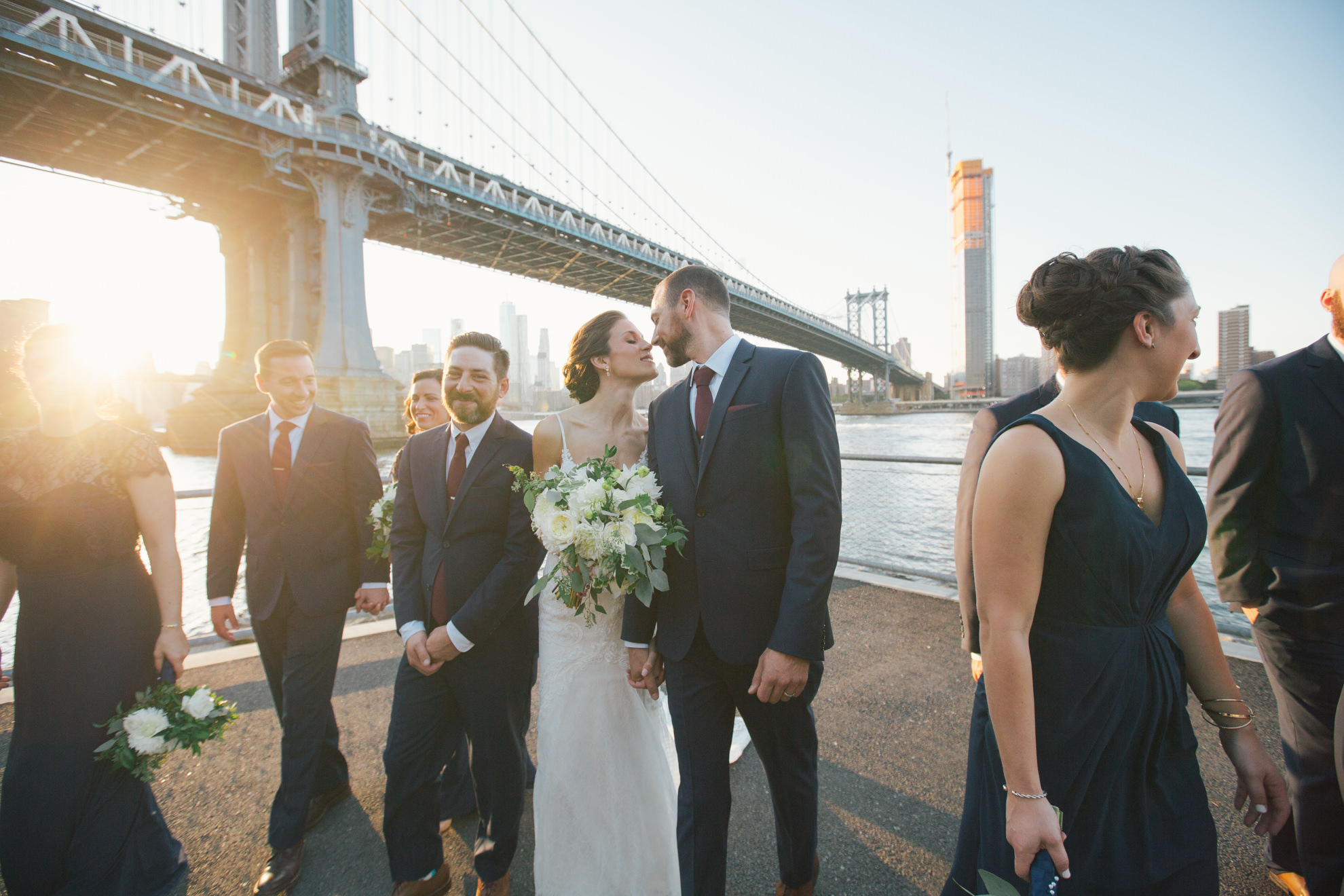 september wedding in brooklyn manhattan bridge