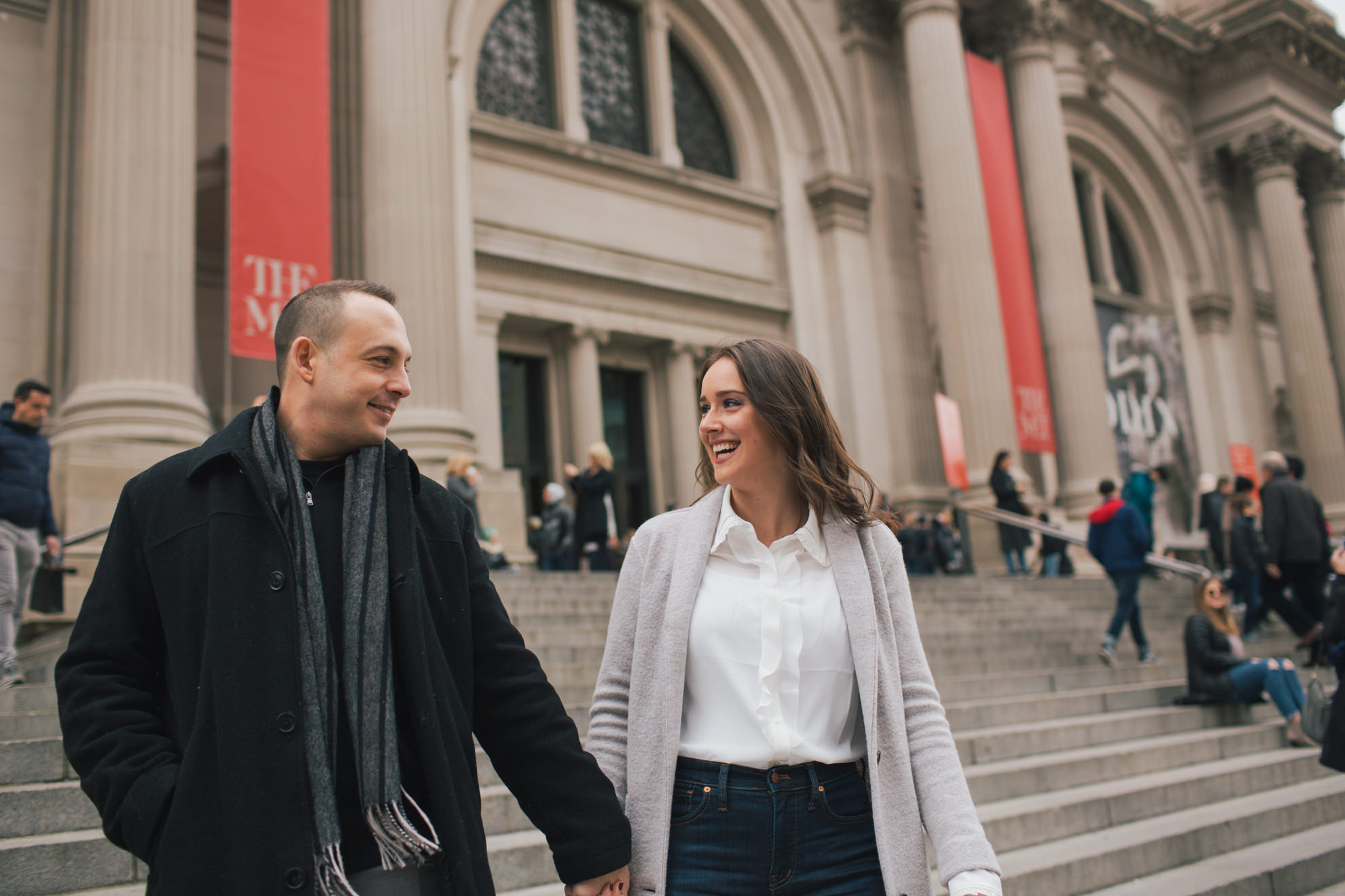 new york city engagement session at the met