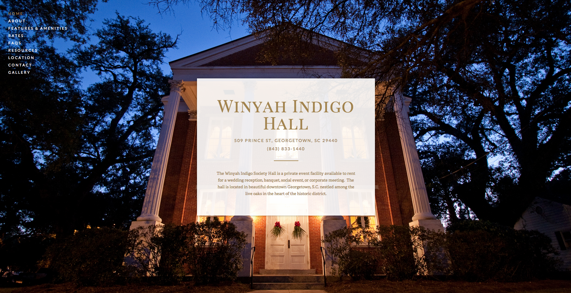 Winyah Indigo Society Hall