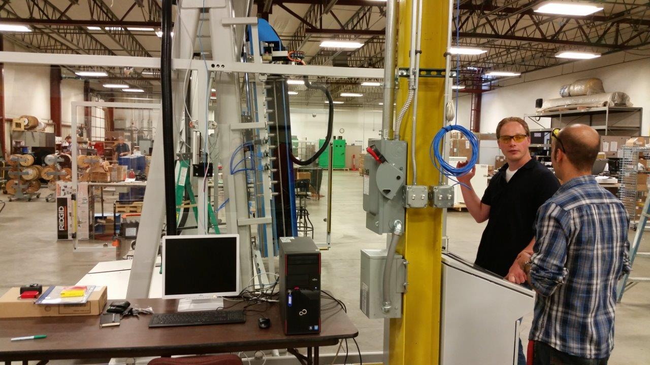 Stefan Gottschalk, a member of theSteinhauer Elektromaschinen team, flew to Colorado to train the UCEC shop on the new MC80.