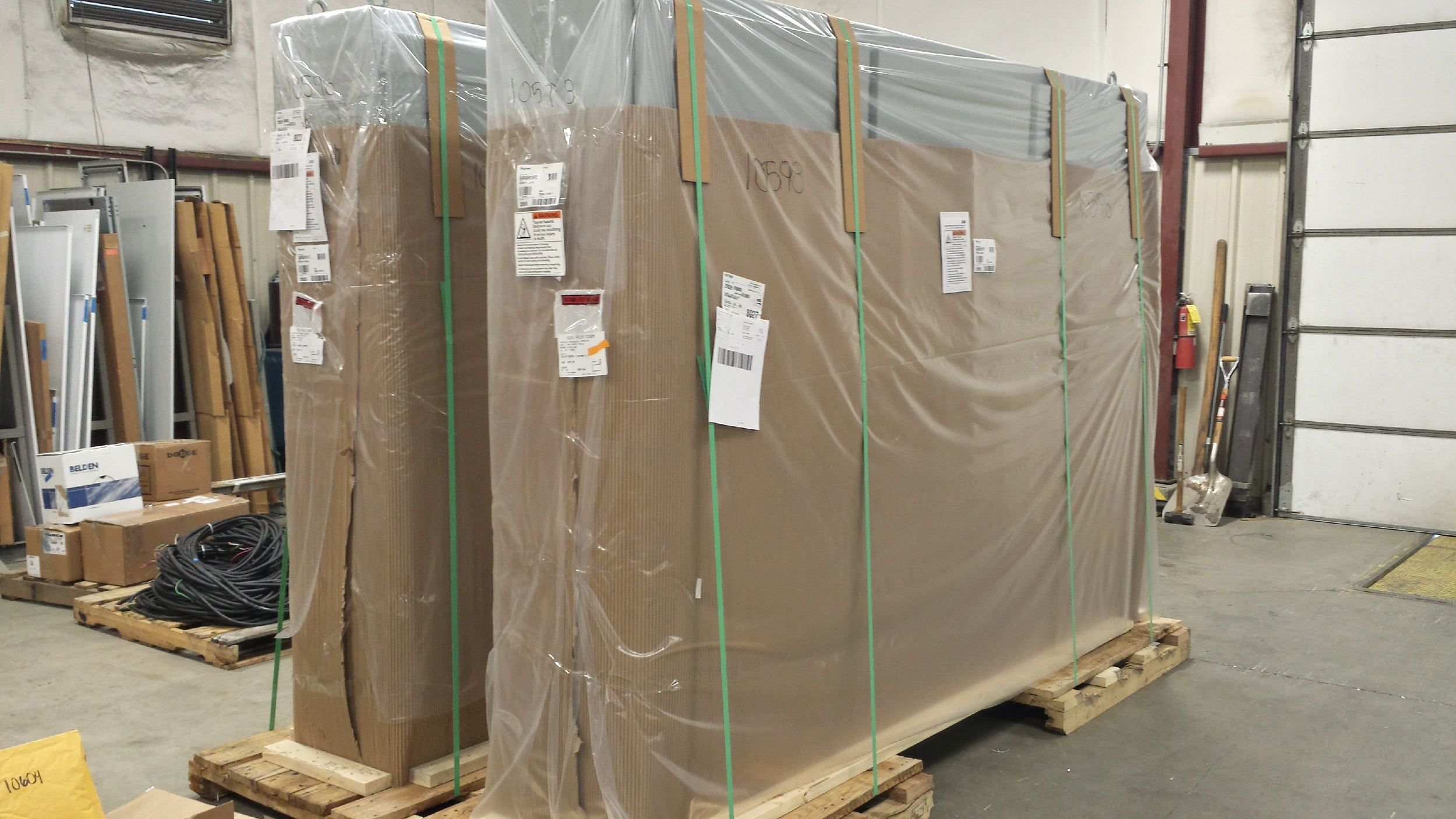 These panels will be fabricated for Ball Packaging and then transported to Wallkill, NY.