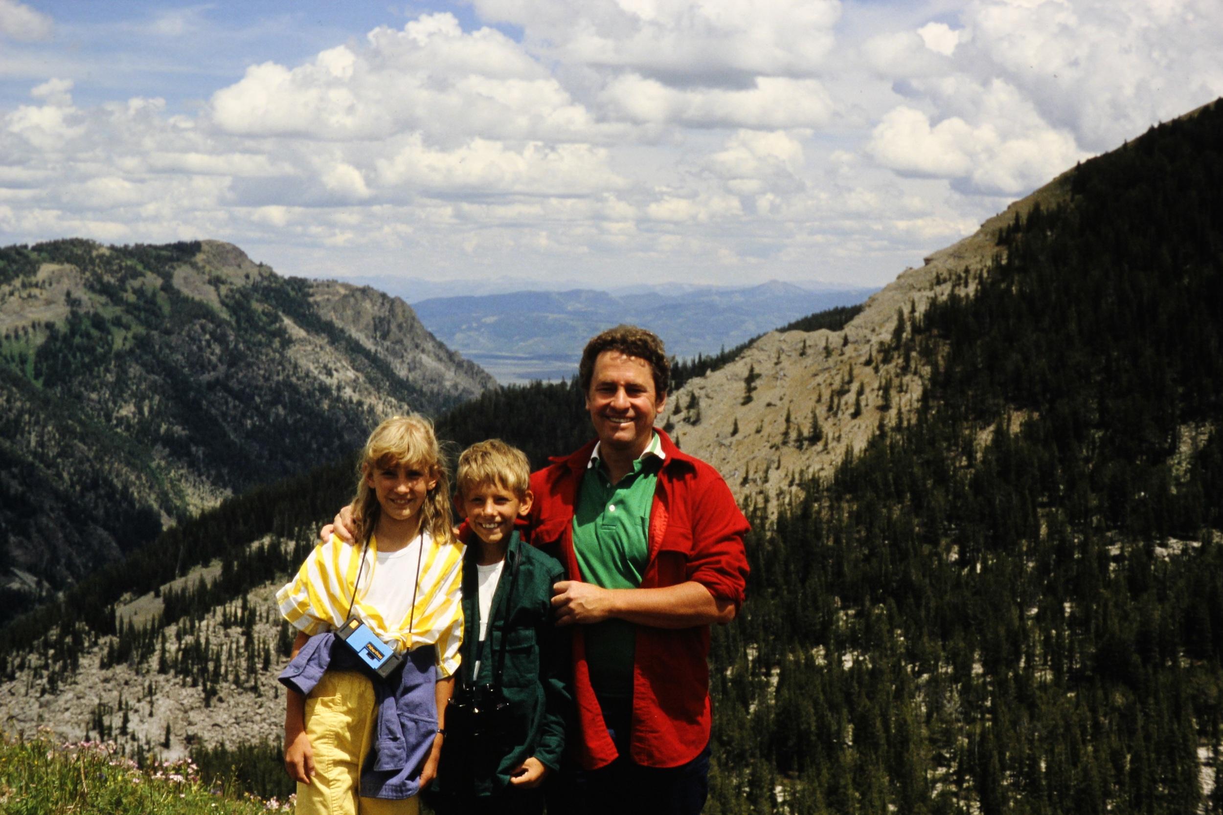Evan, his sister Tiffany and Dad, Kip.
